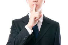 Gesture of businessman Royalty Free Stock Photo