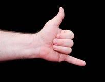 Gesture call Stock Photos