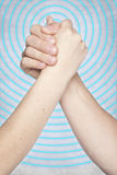Gesture covenant, spreading circles background royalty free stock images