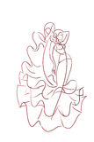 Gesture drawing flamenco dancer expressive pose Royalty Free Stock Photography