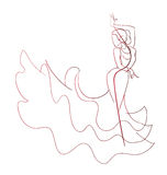 Gesture drawing flamenco dancer expressive pose Royalty Free Stock Images