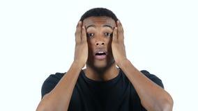 Gesture of Failure, Black Man Loss stock video