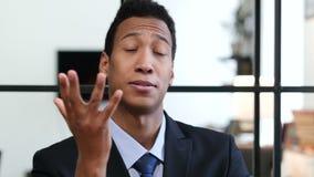 Gesture of Failure, Upset Black Businessman. Young creative designer , good looking stock video