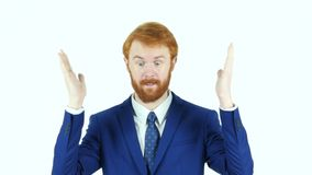Gesture of Failure, Upset Red Hair Beard Businessman, Huge Loss stock footage
