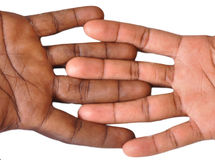 Gesture of fingers and hands. The gesture of the fingers and hands is a veritable language, and may be a part of non-verbal communication which may be used in Stock Image
