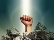 Gesture - fist Royalty Free Stock Images