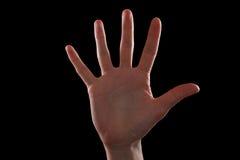 Gesture five fingers stock image