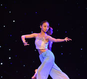 Gesture and gaze-The national folk dance. June 10, 2015, the Jiangxi Vocational Academy of Art dance show performance Stock Photos