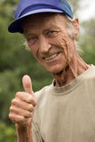 Gesture of the grandfather Royalty Free Stock Photo