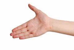 Gesture greeting Stock Image