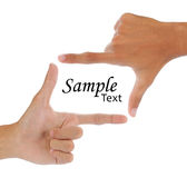 Gesture of hand Stock Photography