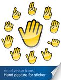 Gesture hand for sticker Stock Photos