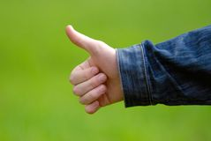 gesture hand well стоковые фотографии rf