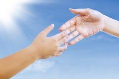Gesture of handshake outdoors Royalty Free Stock Photo