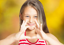 Gesture of heart Royalty Free Stock Photos