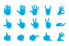 Gesture Icon Set Stock Images
