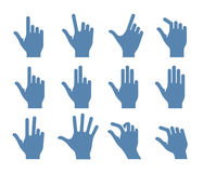 Gesture icon set Royalty Free Stock Photo