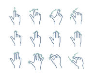 Gesture icon set Royalty Free Stock Images