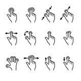 Gesture Icons Set for Mobile Touch Devices. Vector. Illustration Royalty Free Stock Image