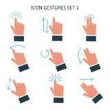Gesture icons for touch devices. Stock Photo
