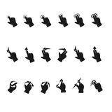 Gesture icons Royalty Free Stock Photos