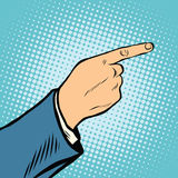 Gesture Index finger direction Stock Photos