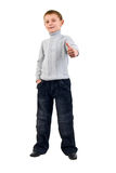 Gesture Little Boy. Stock Photos