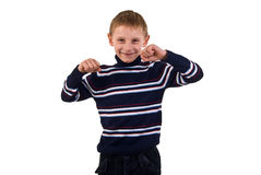 Gesture Little Boy. Stock Photo