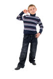 Gesture Little Boy. Royalty Free Stock Image