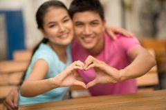 Gesture of love Stock Photography