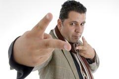 gesture man showing winning Στοκ Εικόνες