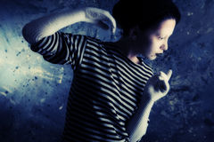 Gesture Of A Mime Royalty Free Stock Photography