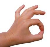 gesture ok Стоковые Изображения RF