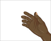 Gesture open palm. Black  Hand gives or receives. Vector illustr. Gesture open palm. Black Hand gives or receives. Vector illustration on white background. Empty Stock Photo