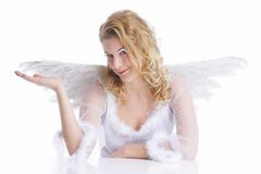Gesture and wings Royalty Free Stock Images