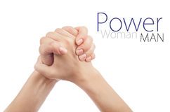 Gesture of woman's hand shake Stock Photo