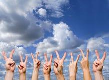gestures победа Стоковые Изображения
