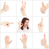 Gestures Royalty Free Stock Photo