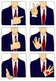 Gestures. Icons on a theme of gestures. A  illustration Royalty Free Stock Photography