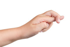 Gestures of children's hands Royalty Free Stock Image