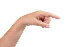Gestures of children's hands Stock Photo
