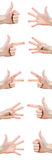 gestures hand Стоковое фото RF