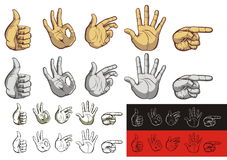 Gestures of the hands Royalty Free Stock Photos