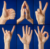 Gestures hands Royalty Free Stock Photos