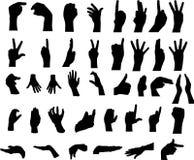 Gestures of hands Stock Images