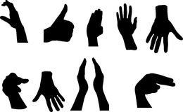 Gestures of hands Royalty Free Stock Photos