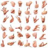 Gestures of hands. Love of men royalty free stock photo