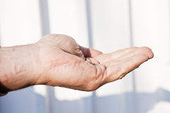 Gestures by hands Stock Photography