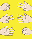 Gestures of hands in a vector Royalty Free Stock Photos