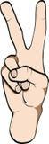 gesturing σύμβολο ειρήνης χεριών Στοκ Εικόνες